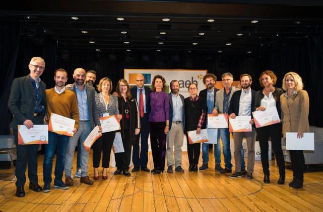 """Verleihung der CAEB Auszeichnung """"Engagiertes Unternehmen, Unternehmen mit Werten""""."""