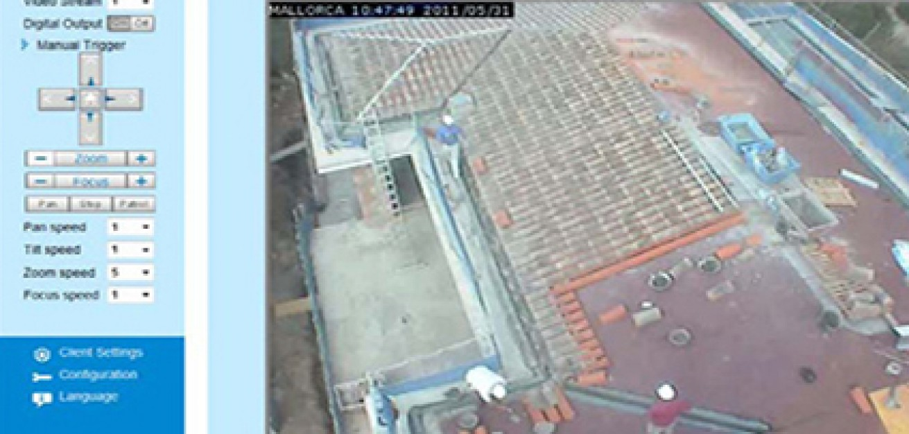 Beobachtungskameras auf dem Bau