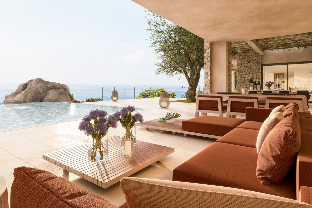 Single-family home under construction in Cala Llamp