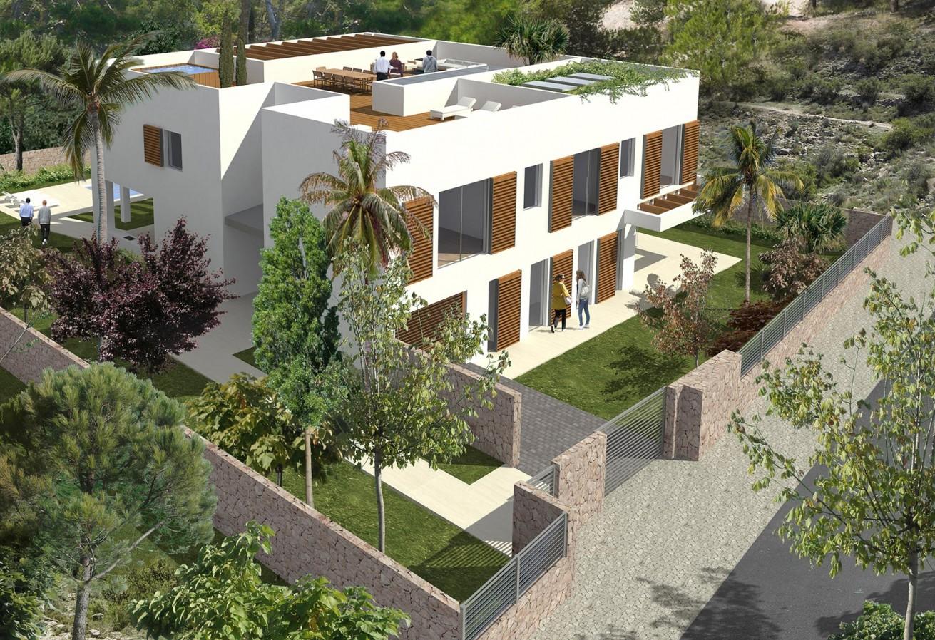 Bau einer Villa in der Wohnsiedlung Sol de Mallorca