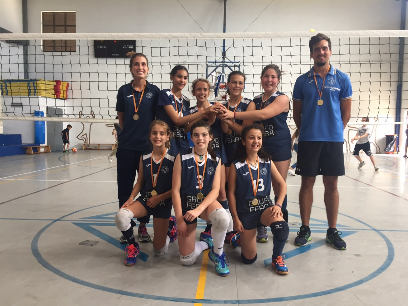 Congratulations to the Grupo Ferrá – Sagrat Cor Female 11-12 years-old Volleyball team